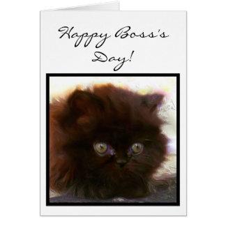 Happy Boss's Day Persian Kitten greeting card