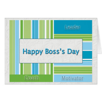 Happy Boss's Day Stripes Card