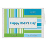 Happy Boss's Day Stripes Cards
