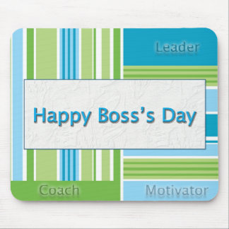 Happy Boss's Day Stripes Mouse Pad