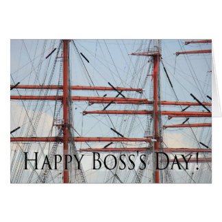Happy Boss's Day Tall Ship Card