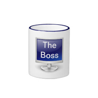 Happy Boss's Day with computer monitor Mug