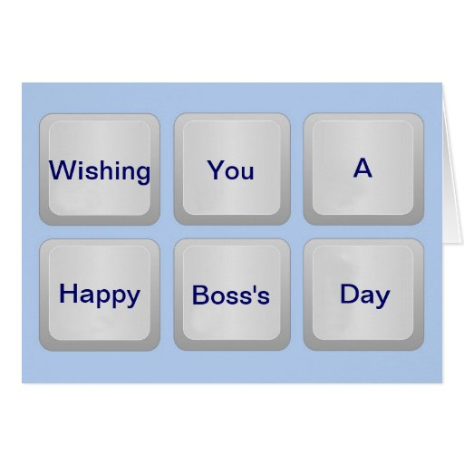 Happy Boss's Day with keyboard and custom text Cards