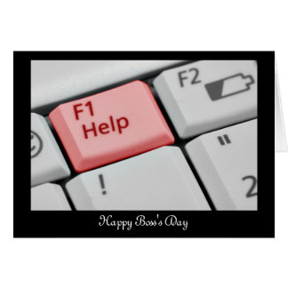 Happy Boss's Day with keyboard and custom text Card