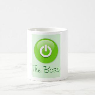 Happy Boss's Day with on button and custom text Coffee Mug