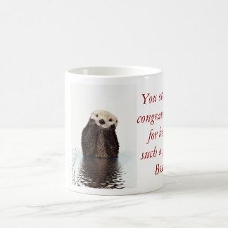 Happy Boss's Day with otter funny Boss's day Coffee Mug