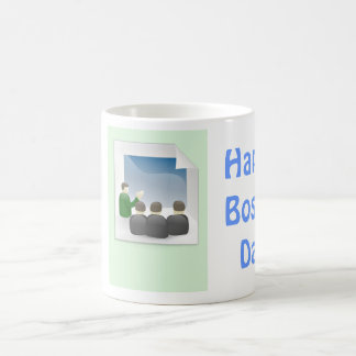 Happy Boss's Day with staff in boardroom Coffee Mug