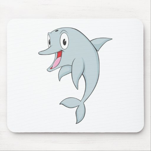 Happy Bottlenose Dolphin Mouse Pad