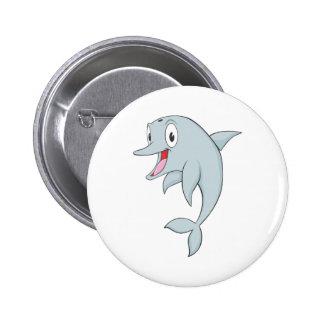 Happy Bottlenose Dolphin Pinback Button