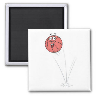 happy bouncing basketball 2 inch square magnet