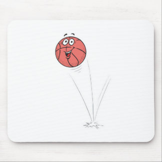 happy bouncing basketball mouse pad