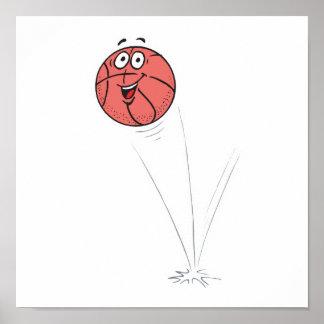 happy bouncing basketball print