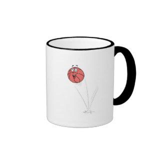 happy bouncing basketball ringer coffee mug