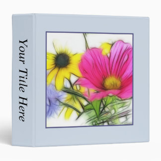 Happy Bouquet of Flowers 3 Ring Binder