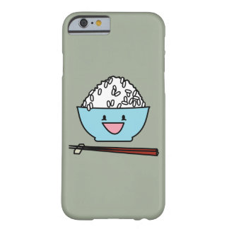 Happy bowl of white rice chopsticks carbs barely there iPhone 6 case