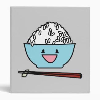 Happy bowl of white rice chopsticks carbs binder