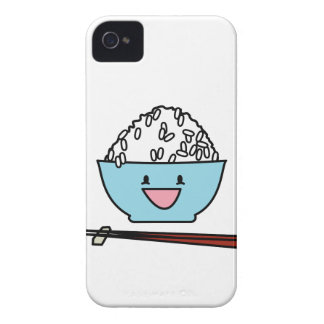 Happy bowl of white rice chopsticks carbs iPhone 4 Case-Mate case