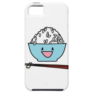 Happy bowl of white rice chopsticks carbs iPhone SE/5/5s case