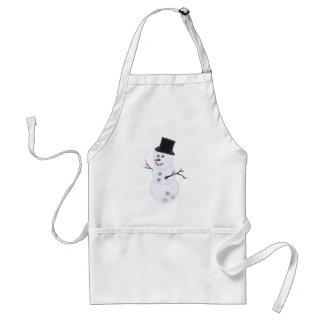 Happy Bowlidays Snowman Adult Apron