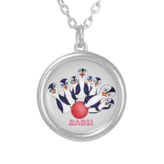 Happy Bowling by The Happy Juul Company Silver Plated Necklace