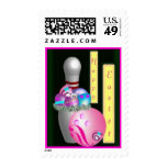 Happy bowling Easter Postage Stamp