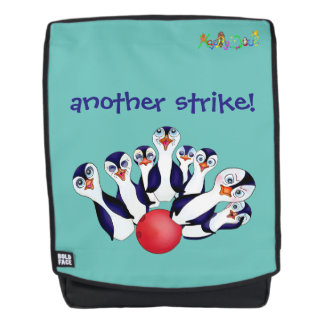 Happy Bowling & Penguinpins by The Happy Juul Comp Backpack