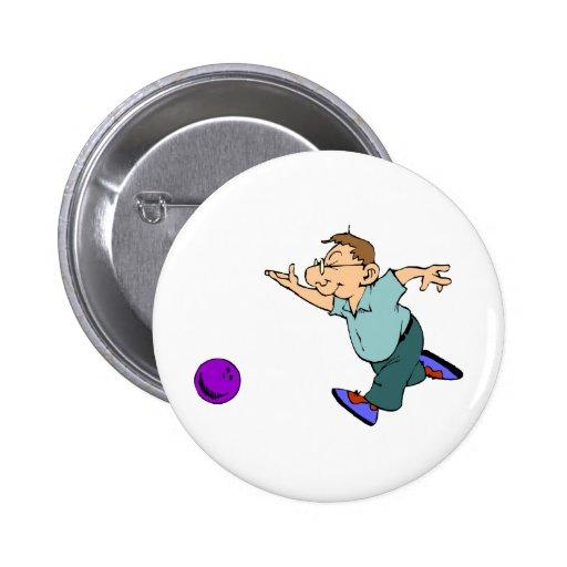 Happy Bowling Pinback Button