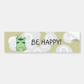 Happy box frog car bumper sticker