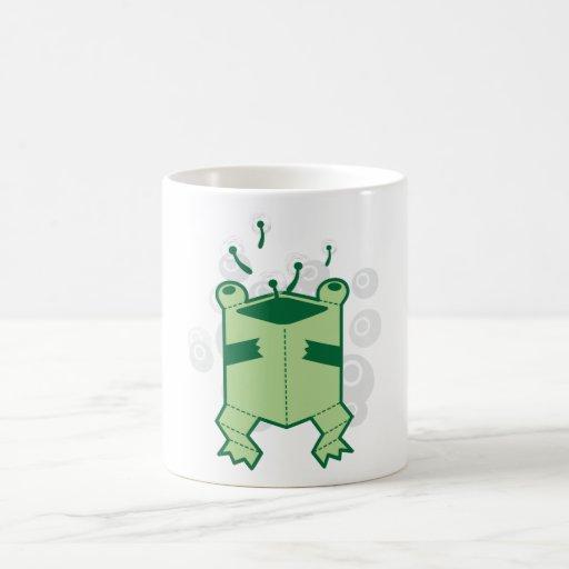 Happy box frog coffee mug