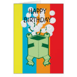 Happy box frog greeting cards