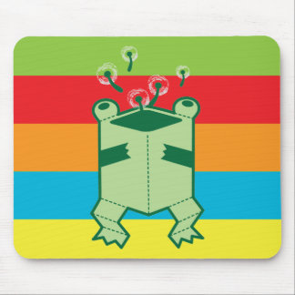 Happy box frog mouse pad