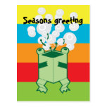 Happy box frog post cards