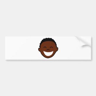 Happy Boy Face Bumper Sticker