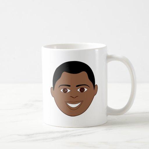 Happy Boy Face Coffee Mug