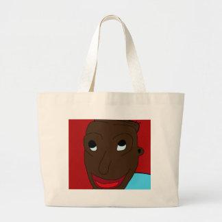 Happy boy large tote bag