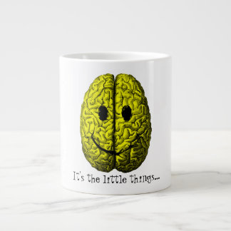 Happy Brain:  It's the little things Giant Coffee Mug