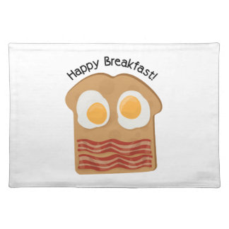 Happy Breakfast! Cloth Placemat