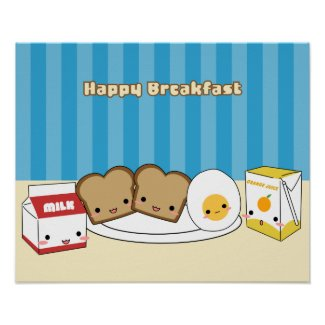 Happy Breakfast print