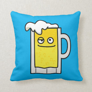 Happy Brewed Beer Alcohol Mug Funny Throw Pillow