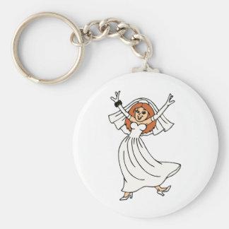 Happy Bride On Wedding Day Keychain