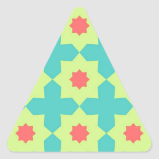 Happy Bright Patterns Triangle Stickers