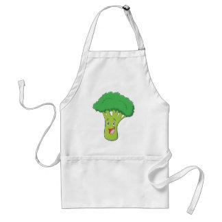 Happy Broccoli Vegetable Smiling Adult Apron