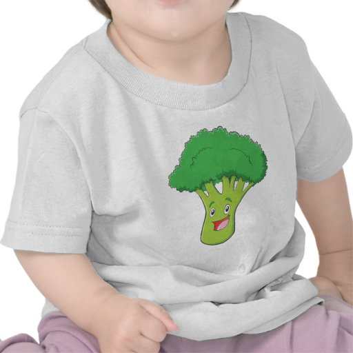 Happy Broccoli Vegetable Smiling T-shirt