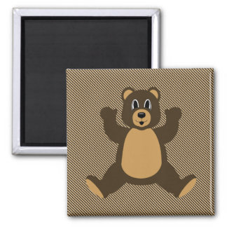 Happy Brown Bear Color Swatches Magnet