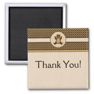 Happy Brown Bear Pattern Customizable Magnet