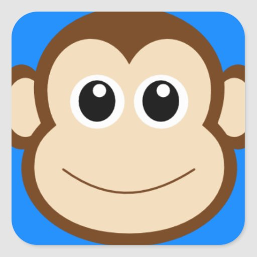 Happy Cartoon Gorilla Face Smiling Monkey ...