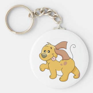 Happy Brown Dog Tshirts and Gifts Keychain