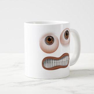 Happy Brown Eyes Large Coffee Mug