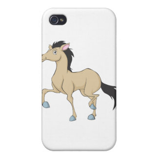 Happy Brown Horse iPhone 4/4S Cover