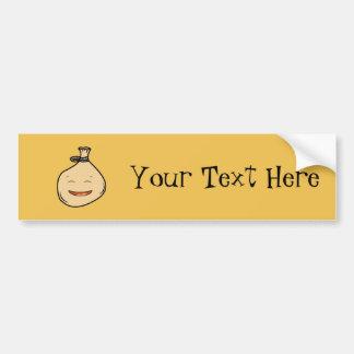 Happy Brown Sack Bumper Sticker